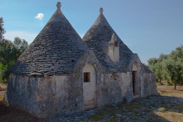 Trulli in the Puglian countryside