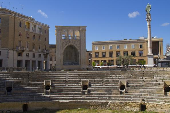 Piazza San'Oronzoi in Lecce, Puglia, Italy