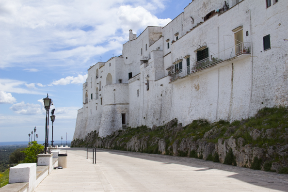 Viale Oronzo Quaranta that circles the old town of Ostuni, in Puglia, Italy