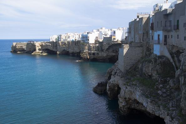 The old town of Polignano a Mare Puglia, Italy