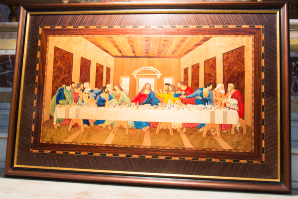 A marquetry picture