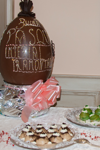 An Easter dessert buffet at the Hotel Tramontano in Sorrento, Italy