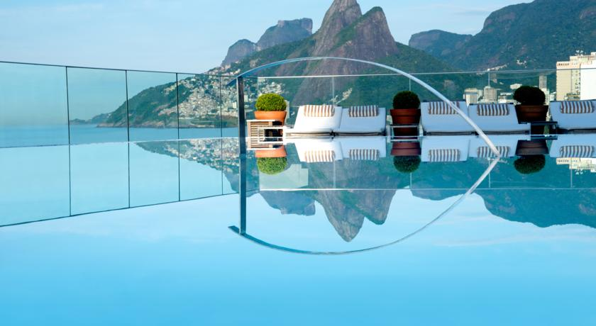 otel Fasano Rio de Janeiro, best rio hotel for its rooftop bar and pool.
