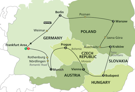 where is Krakow on a map