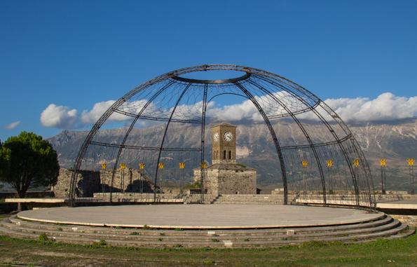 Festival Stage in the fortress above Gjirokaster in Albania