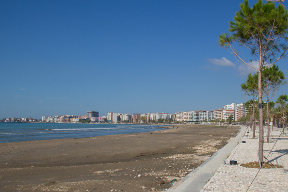 Vlora at the start of the Albanian Riviera