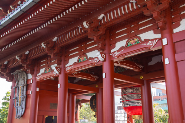 The Main Gate or Thunder Gate at Sensoji Temple in Tokyo, Japan