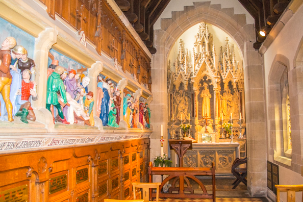 Inside the Shrine of Saint Augustine in Ramsgate, Thanet in Kent