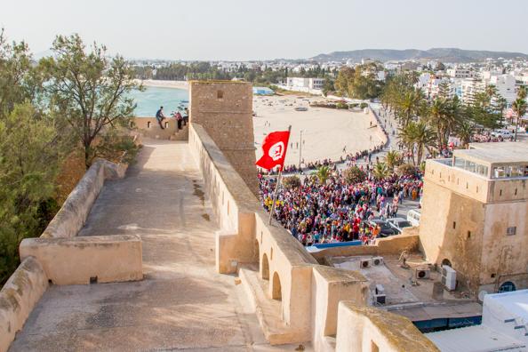Hammamet from the kasbah in Hammamet, Tunisia