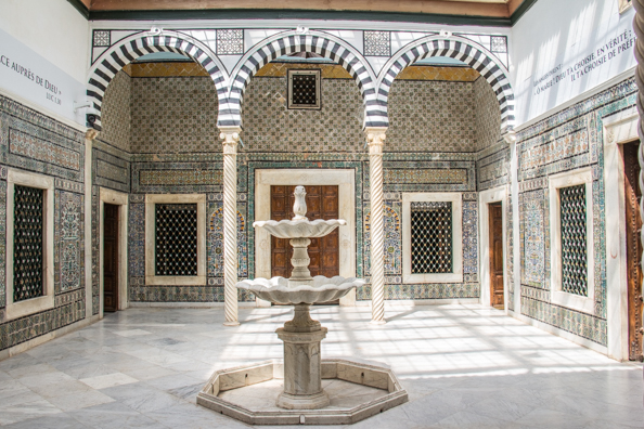 The Harem Patio in the Bardo Palace in Tunis, Tunisia