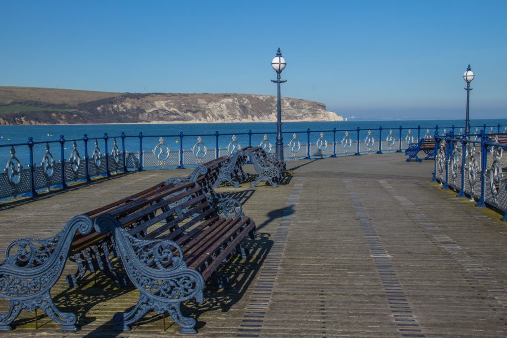 The Pier in Swanage on the Jurassic Coast in Dorset, UK