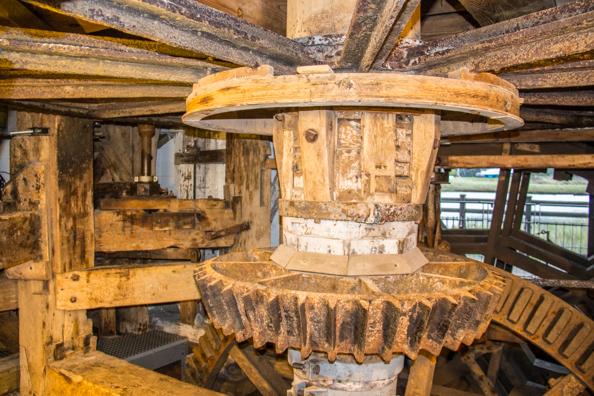 Inside the workings of the Tide Mill in Woodbridge, Suffolk